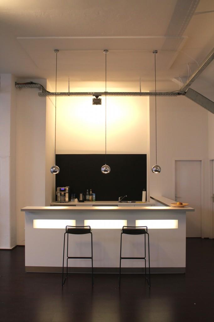 office loft kreuzberg - espresso bar/ küche nachher - laux ... - Bar Für Küche